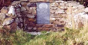 Famine Stone on Rathlin Island